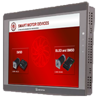 MT6071iE - HMI for control of stepper, DC brush and brushless drives